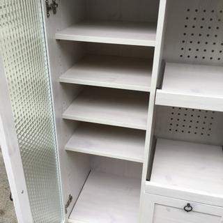 アンティークデザインレンジボード Bistro 食器棚 レンジ台