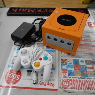 ニンテンドーゲームキューブ オレンジ コントローラー1個付き D...