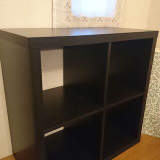 IKEA 人気のKALLAX/カラックス シェルフユニットブラッ...