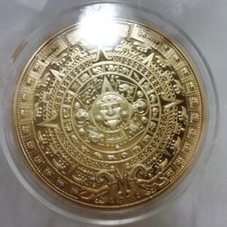 ◆◆◆マヤ文明◆アステカカレンダーコイン(太陽の石)■新品、未使...