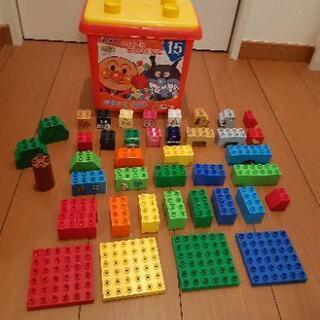 アンパンマン ブロックラボ はじめてのブロックバケツL(オマケ付き)