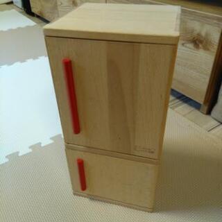 おままごと用 木製冷蔵庫 ジャンク