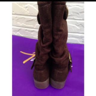 新品 キッズブーツ 15cm チョコレートブラウン 調整可能
