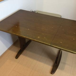 【無料】伸長式ダイニングテーブルセット