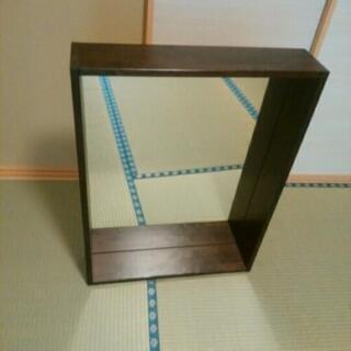 木枠付き鏡