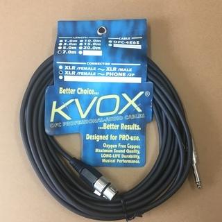 kvox マイクケーブル7M(キャノン↔︎フォーン)新品
