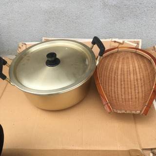 【代理出品】大きな鍋と、ざる