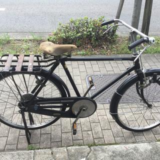 レトロ自転車 ロッドブレーキ 皮サドル