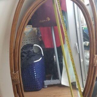 藤家具 姿見  ミラー 鏡