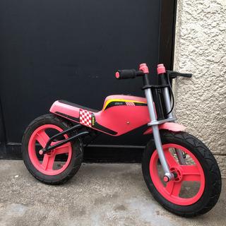 子供用ブレーキ付きペダルなし自転車