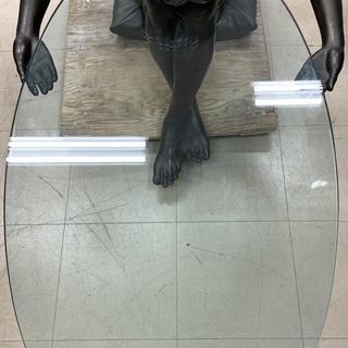 J106 Dal Torrione 銅像ガラステーブル 希少品