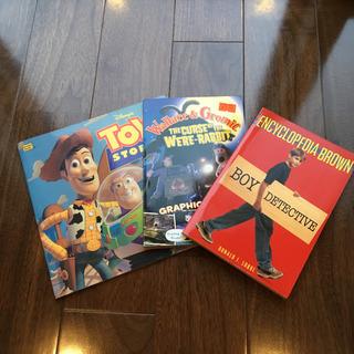 洋書3冊 トイストーリー、ウォレスとグルミット、ロイブラウン