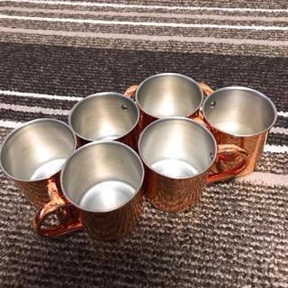 業務用!純銅製のマグカップ!6こセット!これからの季節、アイスコ...