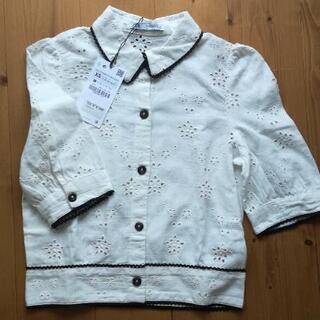 ZARA 刺繍入りカットワークシャツ