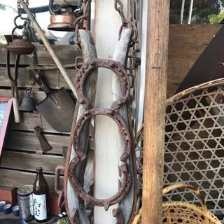 ガーデニング、古民具、馬車、馬、蹄鉄