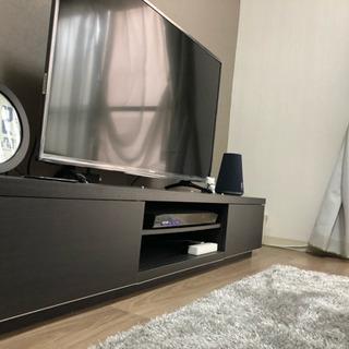 テレビ台 薄型 ローボード ブラックオーク