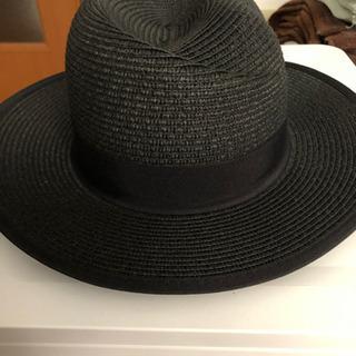 帽子  黒色  夏用