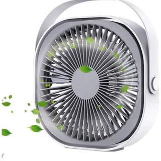 【新品未使用】卓上扇風機 軽量  USBとバッテリー2式給電