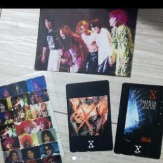X JAPAN写真1枚➕使用済みテレカ➕シール