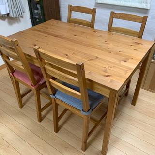 ダイニングセット IKEA JOKKMOKK テーブル&椅子4脚