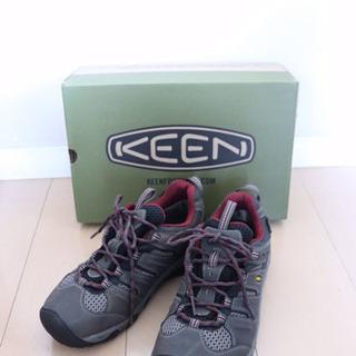 美品☆KEEN キーン登山靴 レディース24.5cm