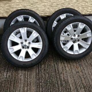 デリカD5純正18インチアルミとタイヤの4本セット