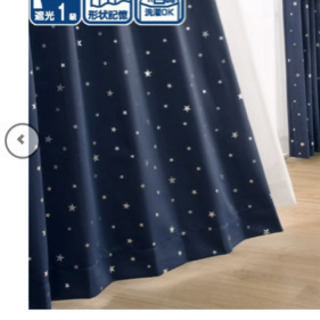 遮光カーテン(中が見えにくいレースカーテン付き)