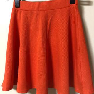 オレンジ ビビットカラー スカート Sサイズ
