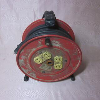 コードリール 電工ドラム 赤
