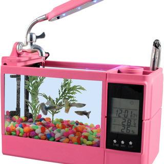ファニティ(fanity)【多機能ミニミニ水槽】 ピンク …