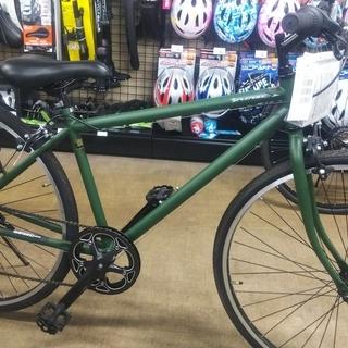 変速6段 クロスバイク タイヤサイズ27インチ  マットカーキ色