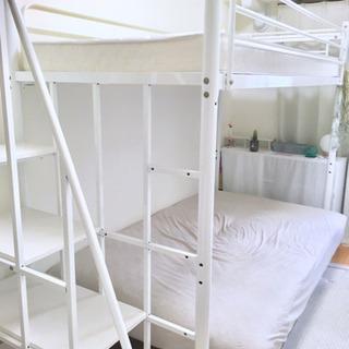 【7/14(日)まで!】ロフトベッド 階段付き 宮付き ベッドマ...