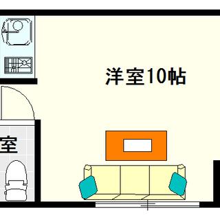 【イトーピア高津Ⅱ】3号タイプ!1Rタイプ!抜けた感じが開放感が...