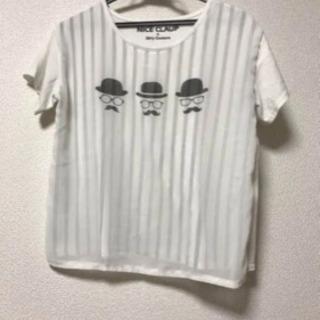 NICE CLAP★ひげ柄Tシャツ