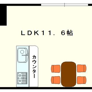 【ディオスカーボ難波】1号タイプ!1LDKタイプ!難波が徒歩圏内...