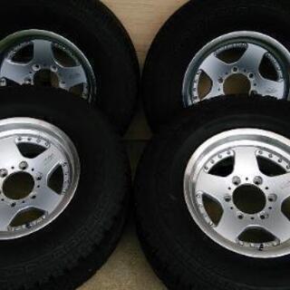 (値下げ)タイヤ&アルミ4本セット) 16×8J +10 PCD...