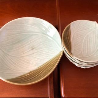 和の大皿&銘々皿5枚のセット