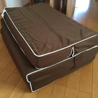 【取引中】ニトリ 折りたたみソファにもなるマットレス - 家具