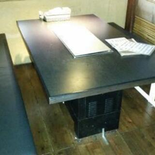 無煙焼肉ロースターテーブル(4人用6台、8人用2台