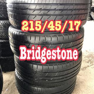 バリ山215/45/17. Bridgestone タイヤ交換コミコミ
