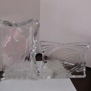 ガラス製 写真立て2個