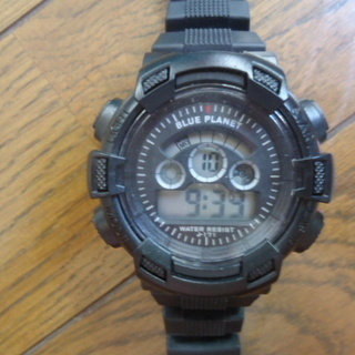 デジタル腕時計 BLUE PLANET