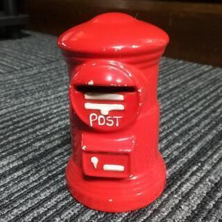 郵便ポスト型 貯金箱(赤)