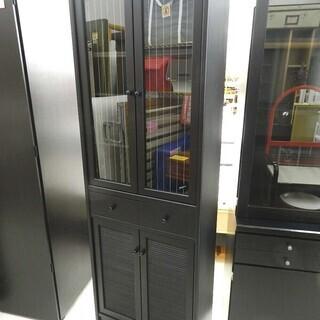 食器棚 カップボード 黒 キッチン収納 高さ調整可能 ☆ Pay...