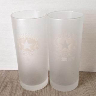 中古 黒ラベル ビアグラス 2個