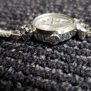 セイコー手巻き腕時計14kホワイトゴールド - 八幡市
