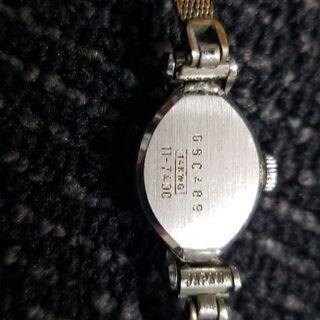 セイコー手巻き腕時計14kホワイトゴールド - 服/ファッション