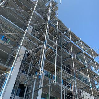 新築マンション作業補助、ソーラーパネル設置