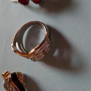指輪、イヤリング 3点