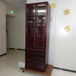 ガラス扉飾り棚4引出し(R107-01)